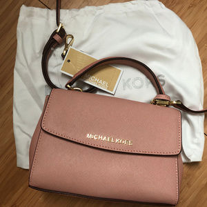 Michael Kors Pink Sloan Merlot Shidr Leather